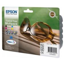 Оригинальный набор картриджей Epson T043&T044 (C13T04324010)
